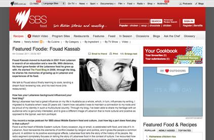 SBS Featured Foodie - The Food Blog - Fouad Kassab